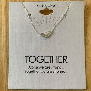 """New Sterling Silver """"Together"""" Necklace"""
